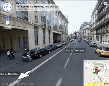 Google Maps France in street view