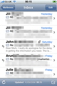 Mail on the iPhone