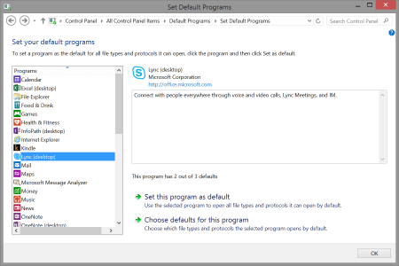 Changing the default app used to open tel: links on Windows