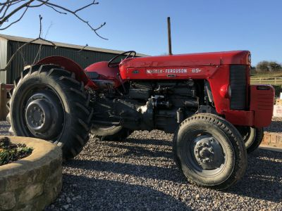 Restored Massey Ferguson Red Tractor at Vegetable Matters