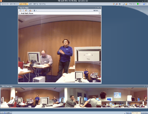 Microsoft RoundTable images viewed in LiveMeeting
