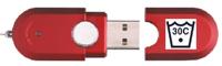 USB flash drive with 30 degree wash symbol