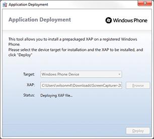 Windows Phone Application Deployment