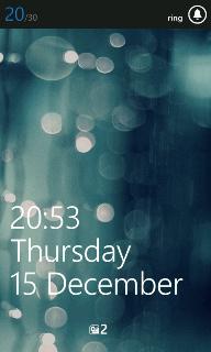 Windows Phone volume bar