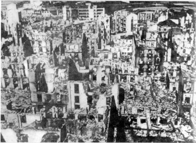 Scenes from the Historical Event at Guernica during Spanish Civil War