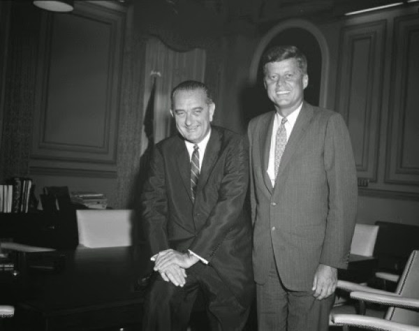 Lyndon B. Johnson et John Fitzgerald Kennedy