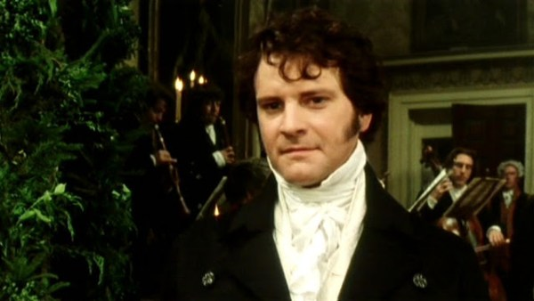 Colin Firth en William Darcy dans la mini-série Pride and Prejudice, de la BBC