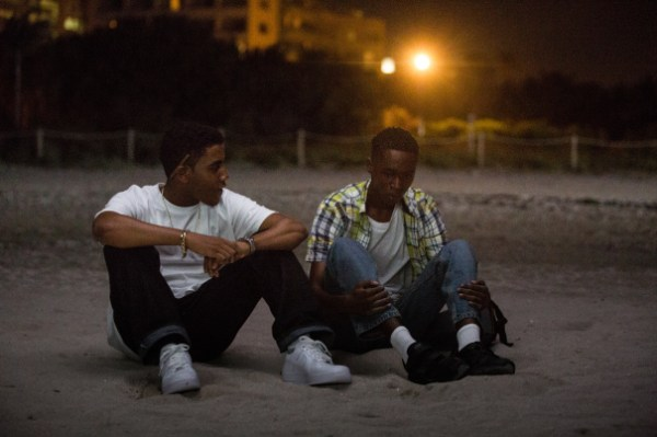 Jharrel Jerome (Kevin) et Ashton Sanders (Chiron) dans Moonlight