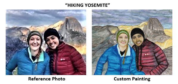 """Hiking Yosemite"" alcohol ink painting"