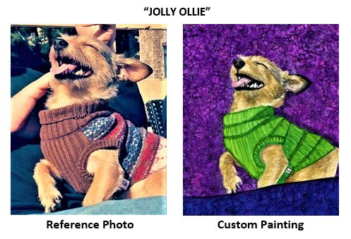 """""""Jolly Ollie"""" alcohol ink painting"""