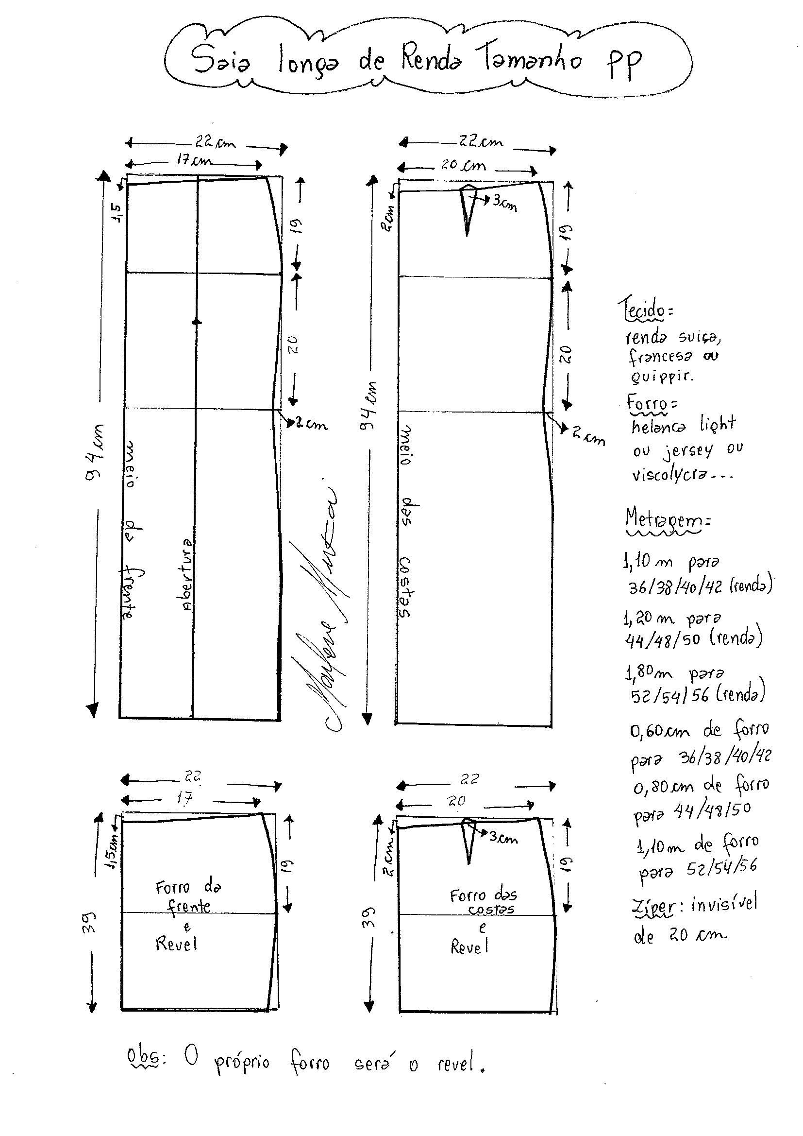 7011e8b68 Saia Longa de Renda | DIY - molde, corte e costura - Marlene Mukai