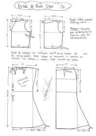Esquema de modelagem de vestido de festa Tulipa tamanho 56.