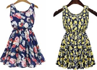 Um vestidinho simples que pode ser feito com ou sem elástico na cintura. Segue esquema de modelagem do 36 ao 56.