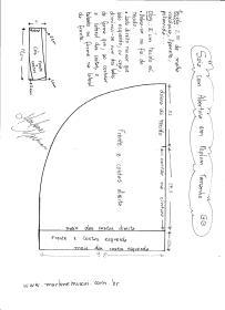 Esquema de modelagem de Saia com Abertura circular tamanho GG.
