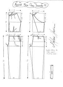 Esquema de modelagem do Macacão Maria Clara tamanho 42.