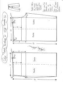Esquema de modelagem de Calça Pareô, Wrap ou Envelope tamanho 56.