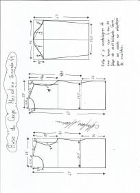 Esquema de modelagem de Base do Corpo Masculino tamanho 44.
