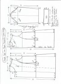 Esquema de modelagem de trench coat tamanho EXGG.