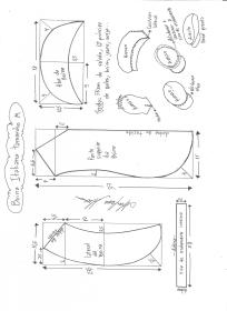 Esquema de modelagem de boina italiana tamanho M.