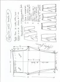 Esquema de modelagem de legging sem costura lateral PP.