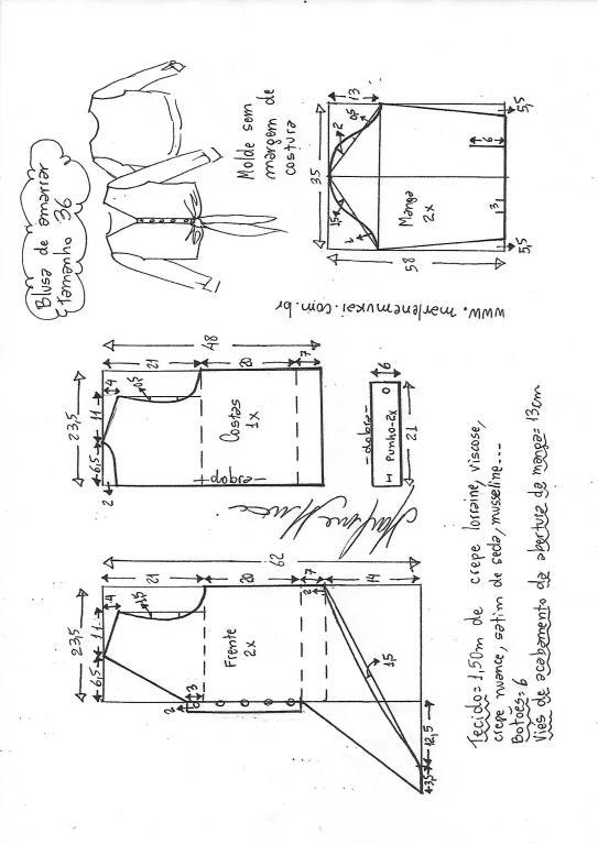2ce88a38695acb Camisa de amarrar na cintura | DIY - molde, corte e costura ...