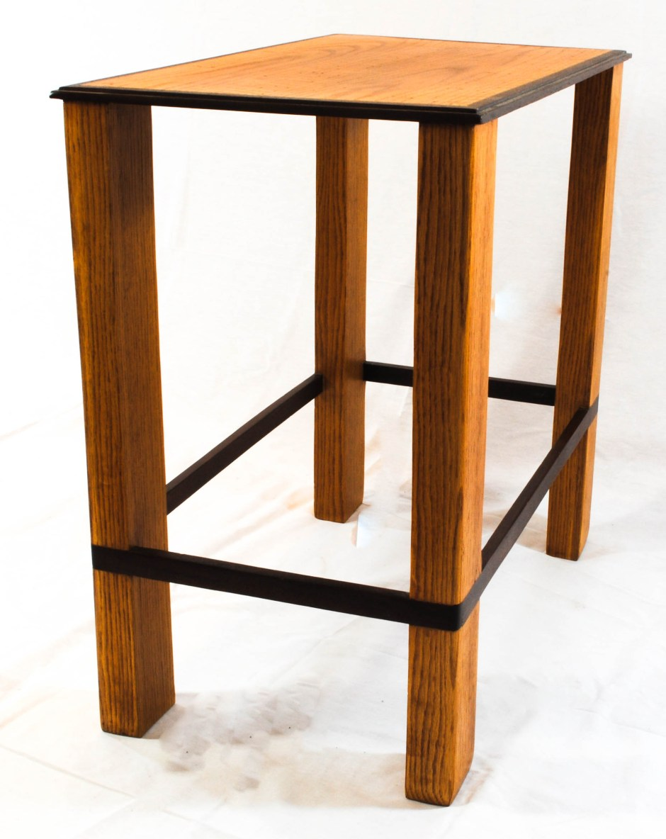 custom oak side table