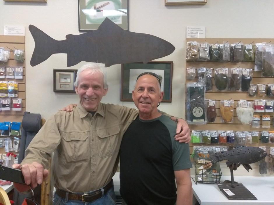metal trout at Ted Fay Fly Shop