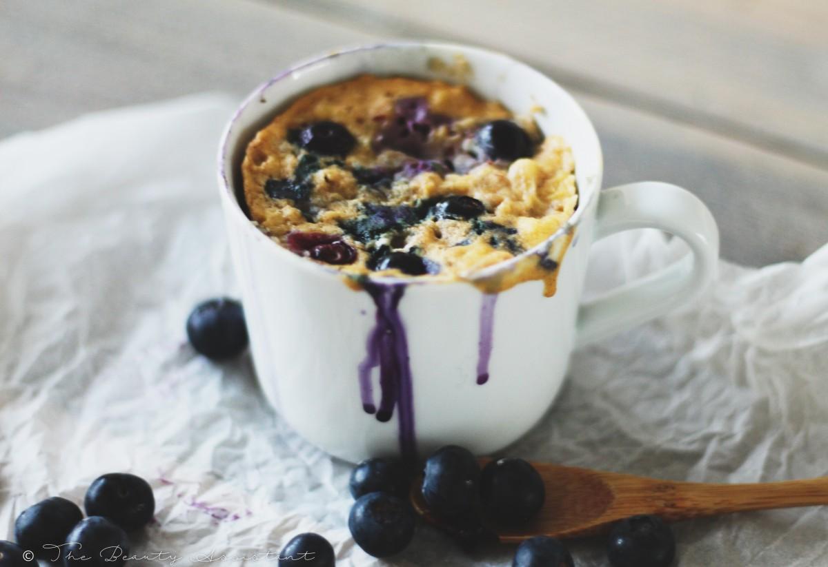 blueberry mugcake