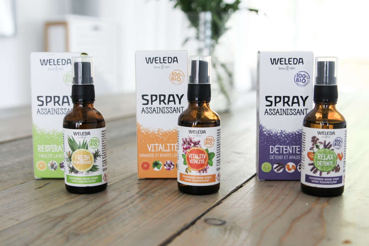 weleda zuiverende room sprays