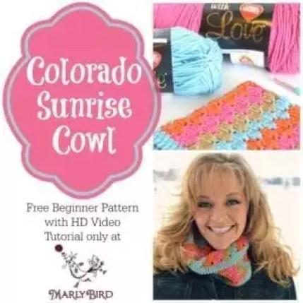 Colorado Sunrise Cowl Free Pattern: https://www.marlybird.com/free-crochet-pattern-colorado-sunrise-cowl/