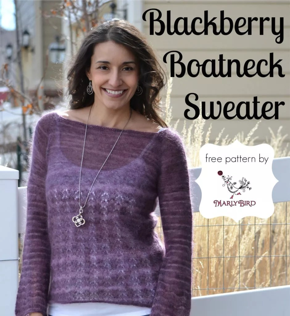 Blackberry Boatneck Sweater - Marly Bird™