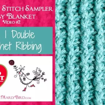 1 x 1 Double Crochet Ribbing