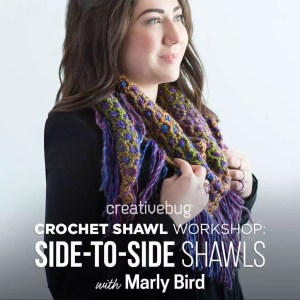 creativebug shawl workshop with Marly Bird