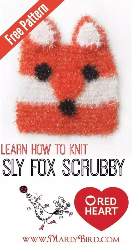 Learn to Knit Sly Fox Scrubby-FREE Pattern from Red Heart