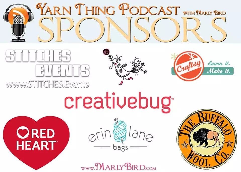 Yarn Thing Podcast with Marly Bird Sponsors 2017