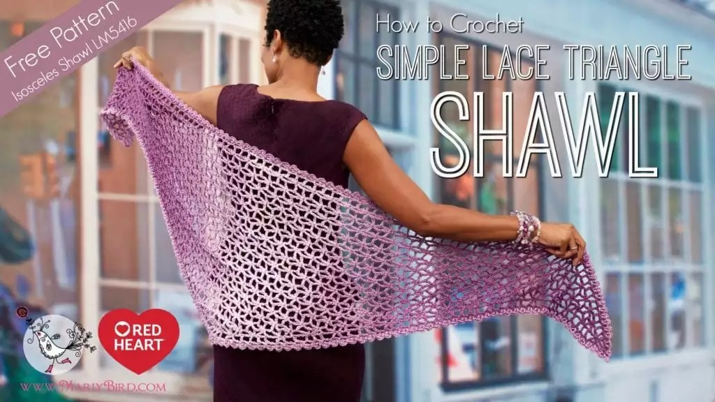 Lacy Isosceles Shawl by Red Heart