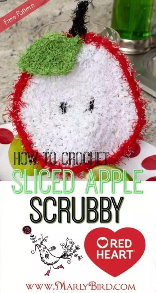 How to Crochet Sliced Apple Scrubby