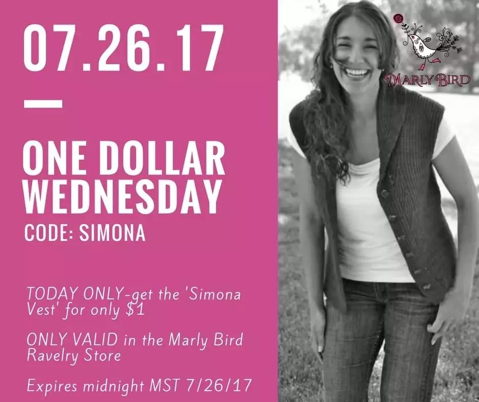 $1 Wednesday Simona Vest Knit Pattern By Marly Bird
