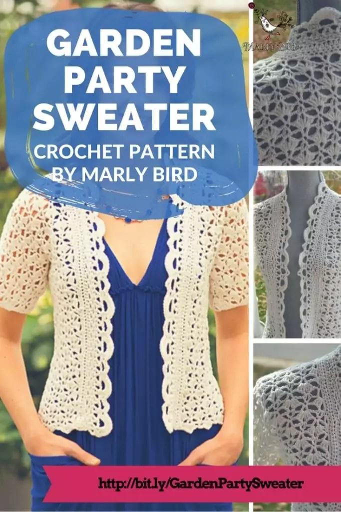 Garden Party Crochet Sweater Pattern by Marly Bird