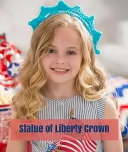 Statue of Liberty Crown Free Patriotic Crochet Pattern from Red Heart