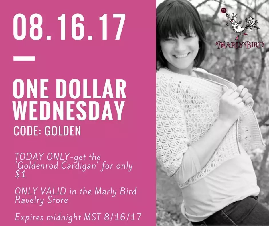 $1 Wednesday with Marly Bird on the Goldenrod Crochet Pattern