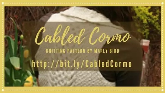 Cabled Cormo Knit Vest Pattern by Marly Bird