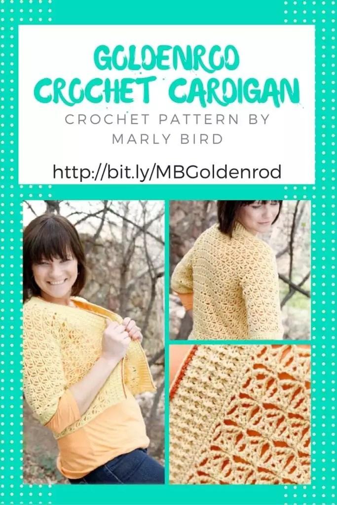 Goldenrod Crochet Cardigan by Marly Bird