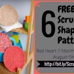 Geometry Fun with Red Heart Scrubby Shapes
