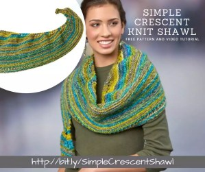 How to make the Simple Crescent Knit Shawl