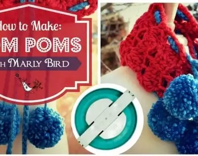 How to make Pom Poms with Clover PomPom Maker