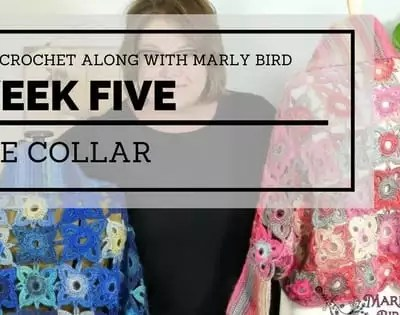 Marly Bird Granny Square Motif Cardigan Section 5 Collar