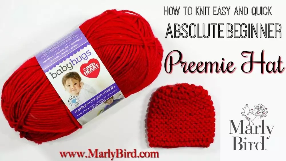 Free Beginner Preemie Hat Pattern for Charity by Marly Bird