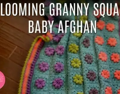 FREE Crochet Baby Blanket-The Blooming Granny Baby Afghan by Marly Bird