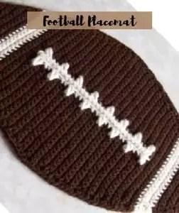 Crochet Football Placemat Pattern